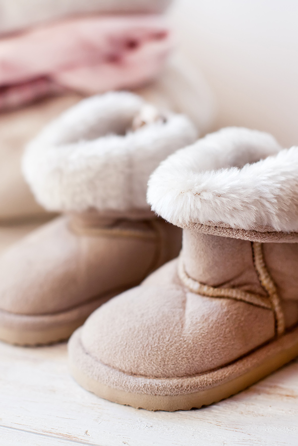 A pair of Ugg boots to represent comfortable clothes.